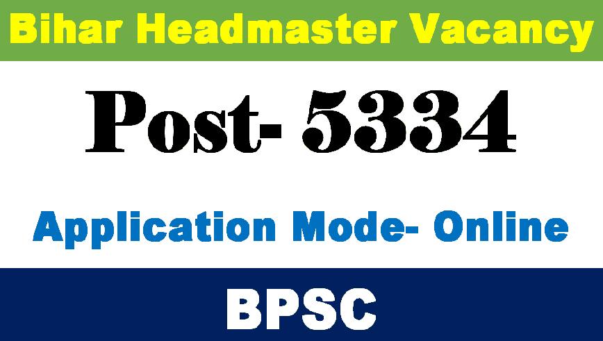 Headmaster Requirement Bihar