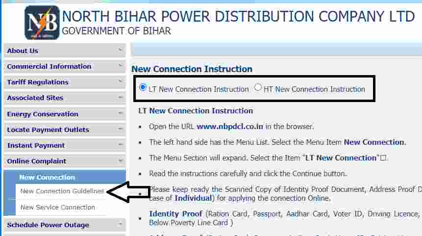 Bihar NBPDCL New Power Conection