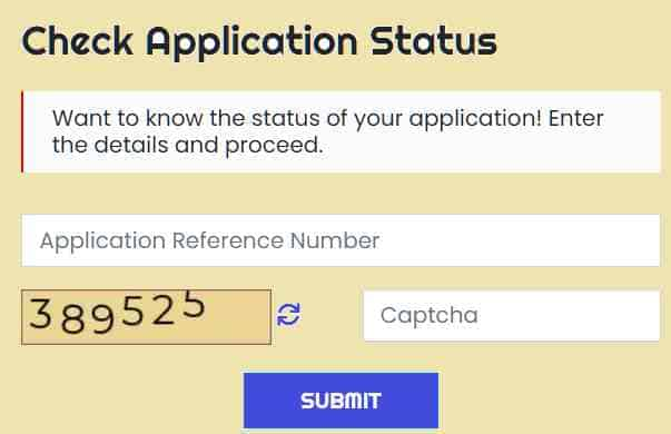 CSC Application Status