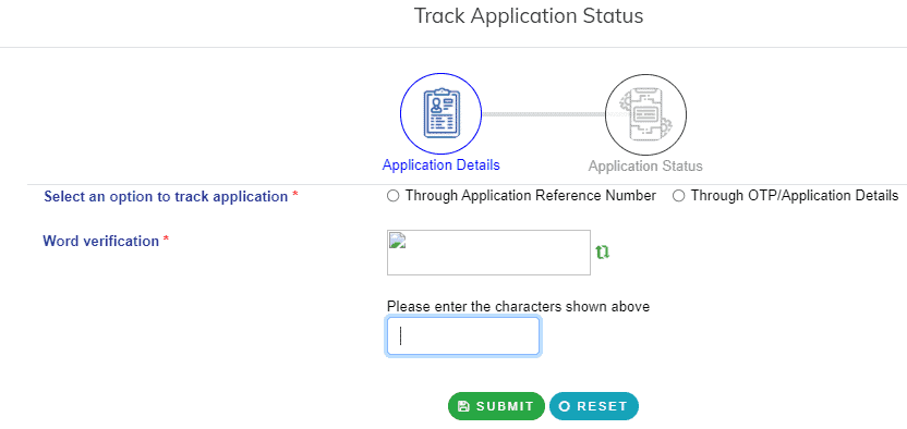Check Application Status epass