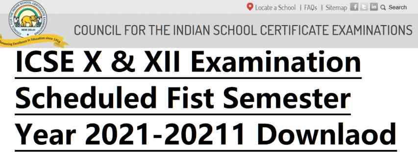 ICSE 10th 12th Scheduled