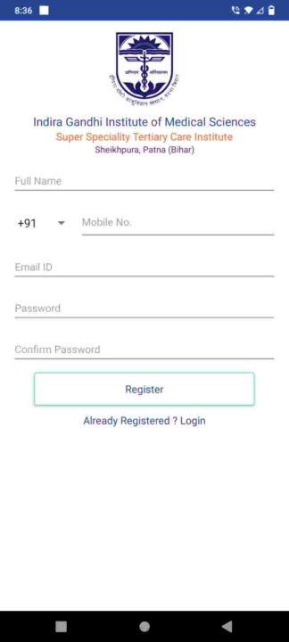 IGIMS OPD New registration