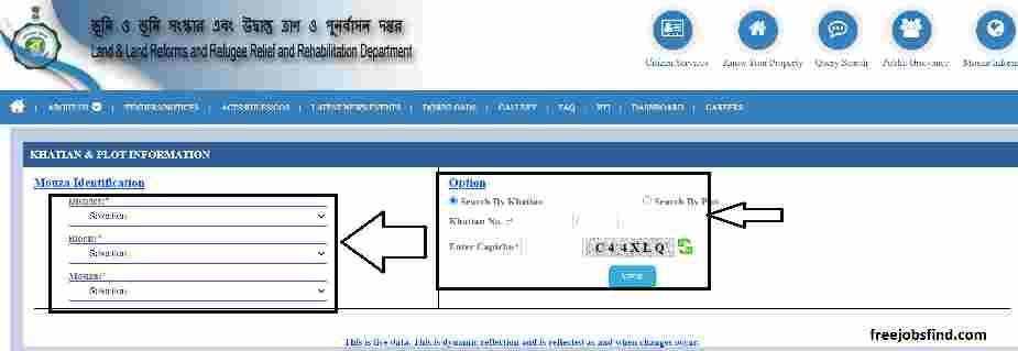 Khow your Property Bangal Bhumi 2021