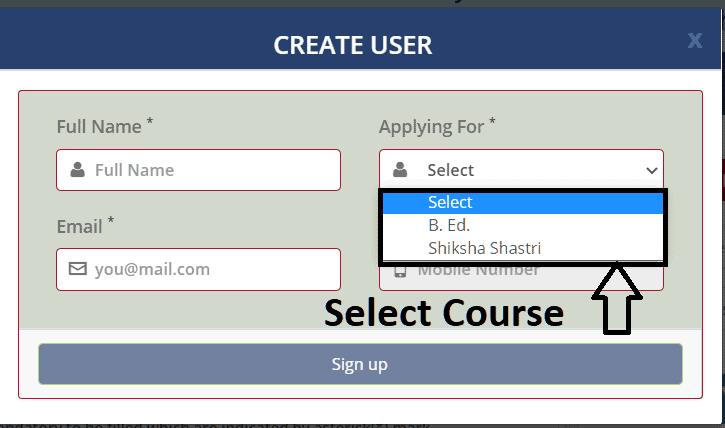 LNMU Bed online form