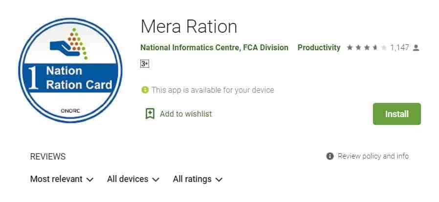 Book Ration Online Mera Ration Apk
