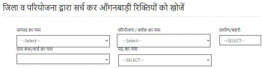 Process of Aanganwadi Form Online