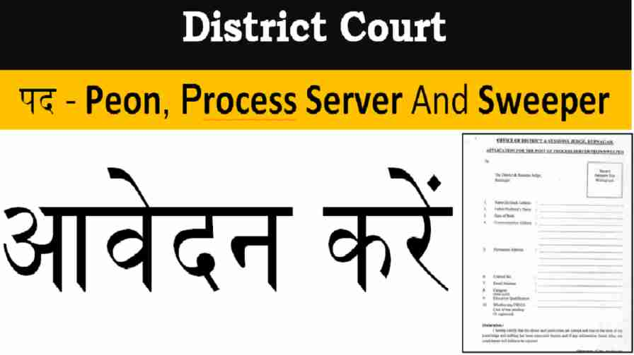 Punjab Latest Peon and Sweeper Job Form Downlaod