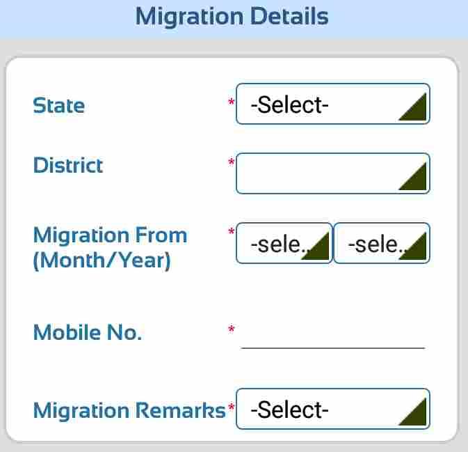 Ration Cad Registration Process