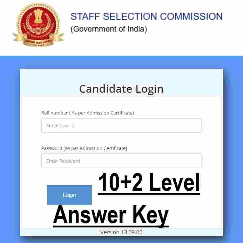 SSC 10+2 Answer Key