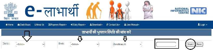 SSPMIS Virdha Pension Status Check Online