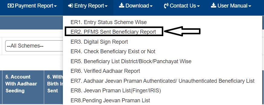 pfms payment list